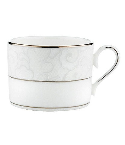 Lenox Venetian Lace Floral Platinum Bone China Cup