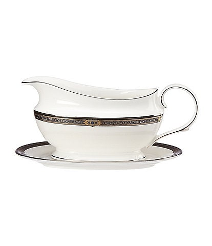 Lenox Vintage Jewel Gravy Boat with Stand