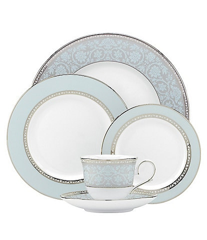 Lenox Westmore Floral Platinum Bone China 5-Piece Place Setting