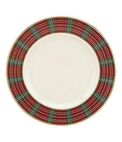 Lenox Winter Gardens Plaid Salad Plate