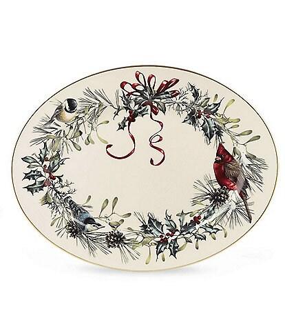 Lenox Winter Greetings 16#double; Oval Platter