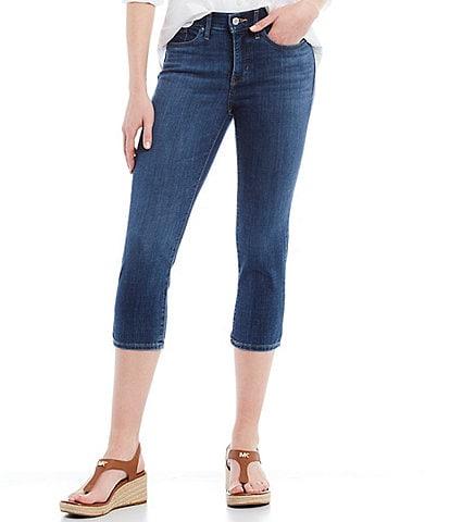 Levi's 311 Shaping Skinny Leg Mid Rise Cropped Capri Jeans