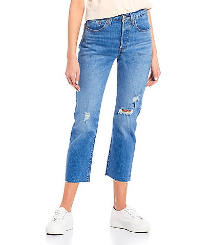 Levi's® 501 High Rise Destructed Cropped Jeans