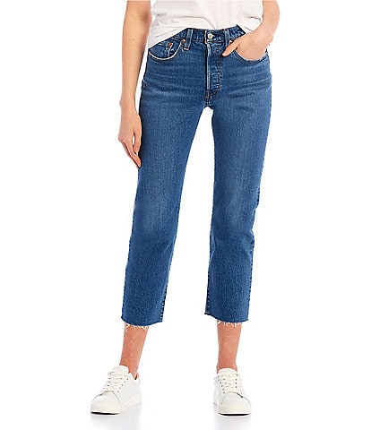 Levi's® 501 Straight Leg Distressed Cropped Jeans