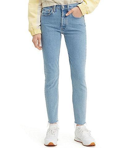 Levi's® 501 Stretch Hi-Rise Raw Hem Skinny Jeans