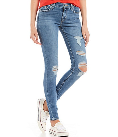 Levi's® 710 Destructed Super Skinny Jeans