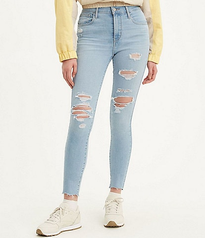 Levi's® 720 High Rise Distressed Extreme Stretch Skinny Jeans