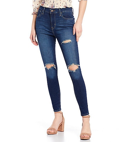 Levi's® 720 High Rise Destructed Super Skinny Jeans