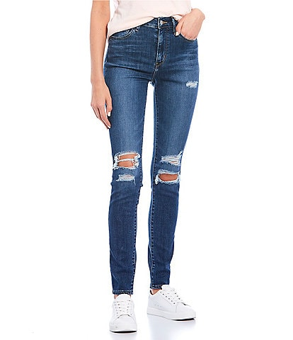 Levi's® 721 Destructed High Rise Skinny Jeans