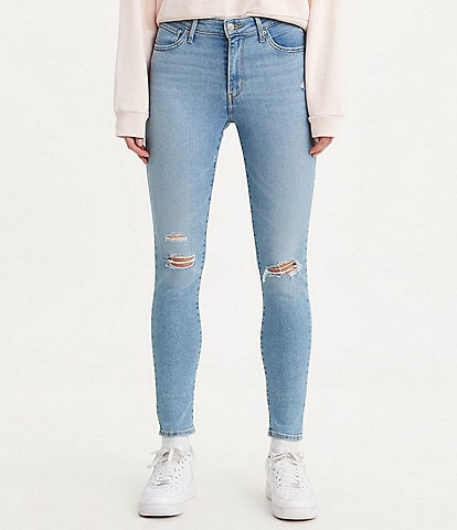 Levi's® 721 30#double; Inseam High Rise Distressed Skinny Jeans