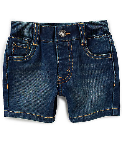 Levi's® Baby Boys 3-9 Months Denim-Look Knit Shorts