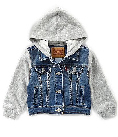 Levi's® Baby Boys 3-24 Months Hooded Trucker Jacket
