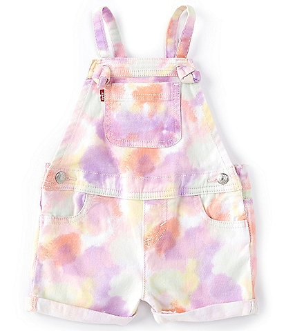Levi's® Baby Girls 12-24 Months Spaghetti-Strap Tie-Dye Shortall