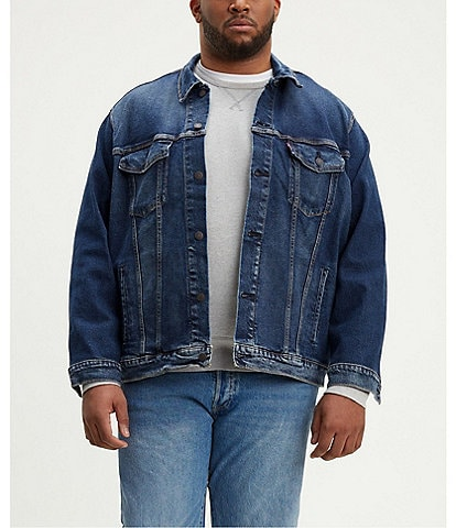 Levi's® Big & Tall Stretch Denim Trucker Jacket