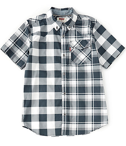 Levi's® Big Boys 8-20 Short-Sleeve Plaid Button-Front Shirt