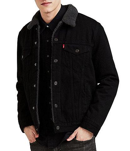 Levi's® Duvall Black Sherpa Trucker Jacket