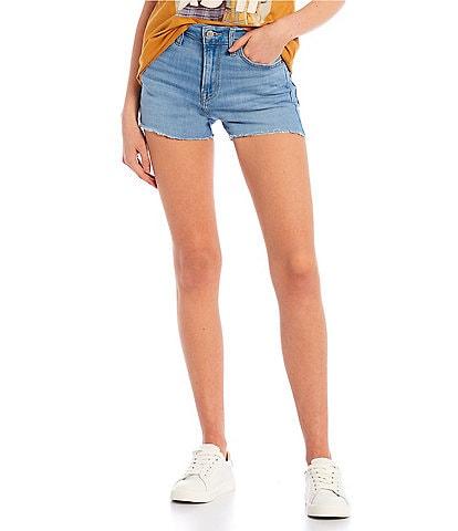 Levi's® High-Rise Harlem Scoop Frayed Hem Shorts