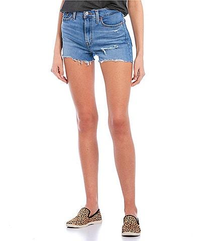 Levi's® High Rise Frayed Hem Shorts