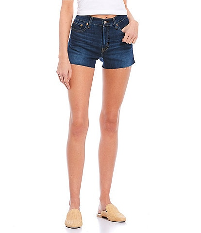 Levi's® High Rise Frayed Hem Shorts