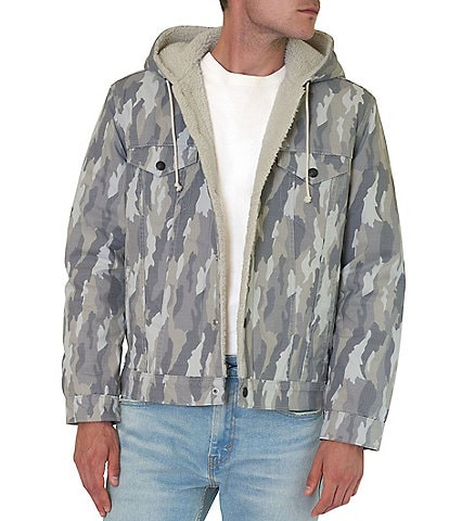Levi's® Hooded Sherpa Camo Trucker Jacket