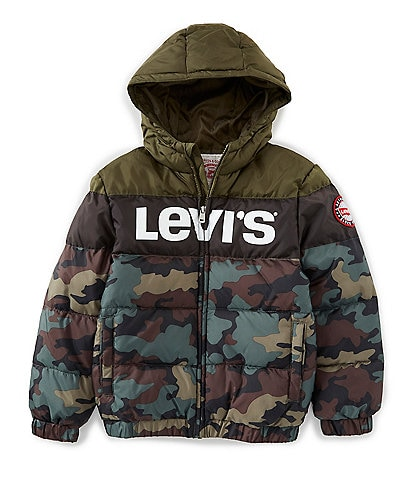 Levi's® Little Boys 2T-7 Camo Print Rocket Puffer Jacket