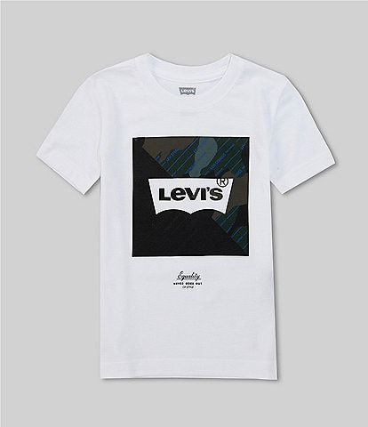 Levi's® Little Boys 2T-7 Short-Sleeve Camo Box Logo Tee