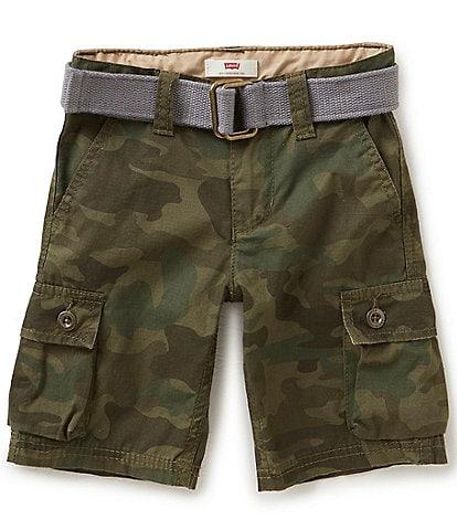 Levi's® Little Boys 2T-7X Westwood Camo Print Cargo 6#double; Shorts