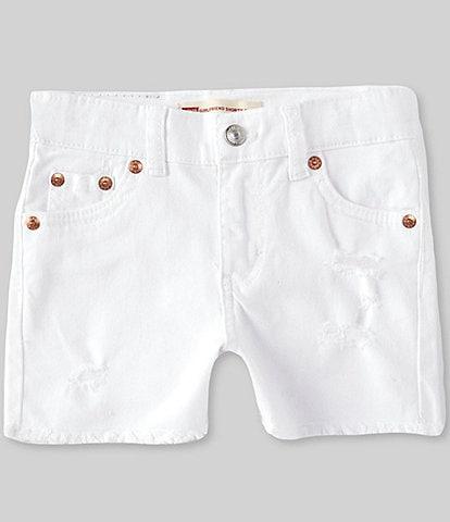 Levi's® Little Girls 2T-6X Girlfriend Frey-Hem Shorty Denim Shorts