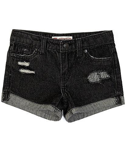 Levi's® Little Girls 2T-6X Girlfriend Shorty Denim Shorts