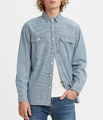 Levi's® Long-Sleeve Classic Striped Worker Overshirt
