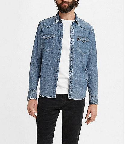 Levi's® Long-Sleeve Classic Western Snap-Front Standard-Fit Shirt