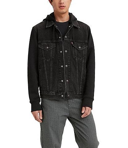 Levi's® Long-Sleeve Hybrid Hoodie V Trucker Jacket