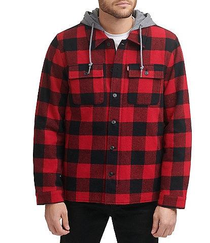 Levi's® Long-Sleeve Plaid-Printed Shirt Jacket