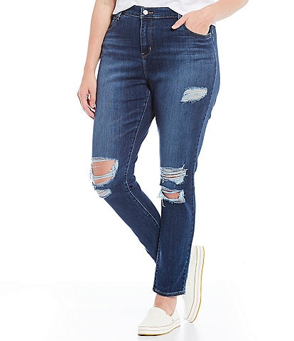 Levi's® Plus Size 721 High Rise Distressed Skinny Jeans