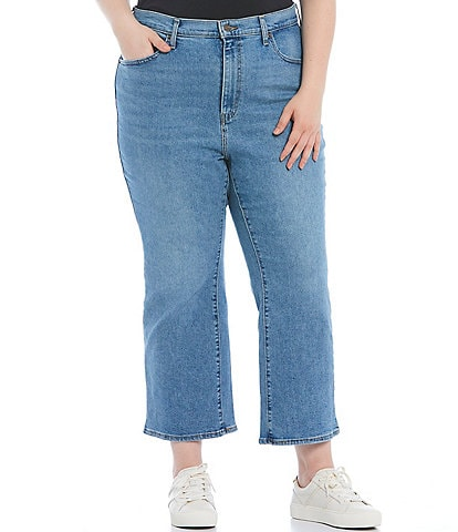Levi's® Plus Size High Waisted Flare Leg Crop Jeans