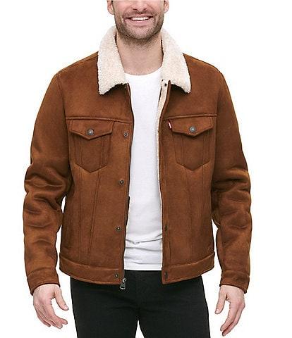 Levi's® Sherpa Faux Shearling Zip Front Trucker Jacket