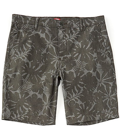 Levi's® Standard Taper Floral Flat-Front 9#double; Inseam Chino Shorts