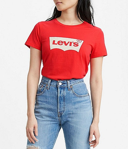 Levi's® The Perfect Batwing Logo Short Sleeve Tee