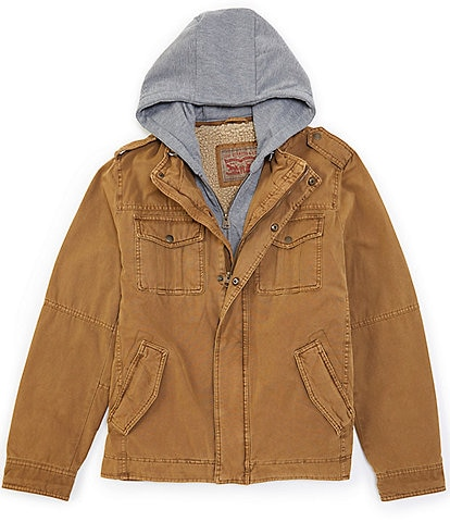 Levi's® Twill Hooded Military Trucker Jacket