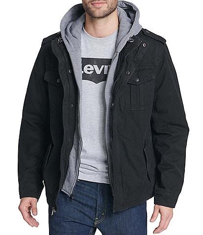 Levi's® Twill Hooded Military Trucker Jacket