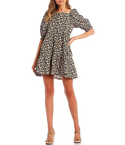 Levi's® Willa Floral Puff Sleeve Tiered Dress