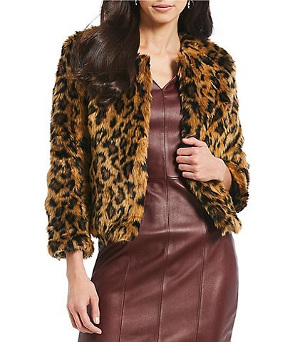 Levyvel Ladies' Irina Cheetah Reversible Cropped Jacket