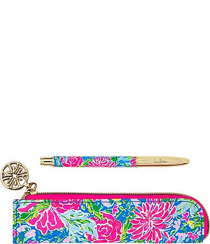 Lilly Pulitzer Bunny Business Ballpoint Pen with Pouch