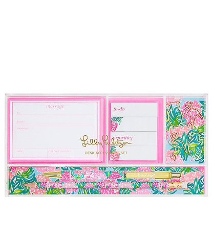 Lilly Pulitzer Pineapple Desk Accessories Set