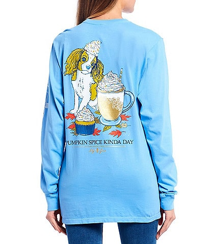 Lily Grace Pumpkin Spice Long Sleeve Graphic Pocket Tee