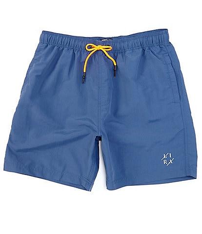 Lira Clothing 18#double; Outseam Elastic Waist Court Nylon Shorts