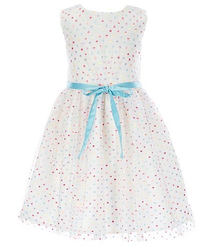 Little Angels by Us Angels Little Girls 2T-6X Sequin-Dot Fit-And-Flare Dress