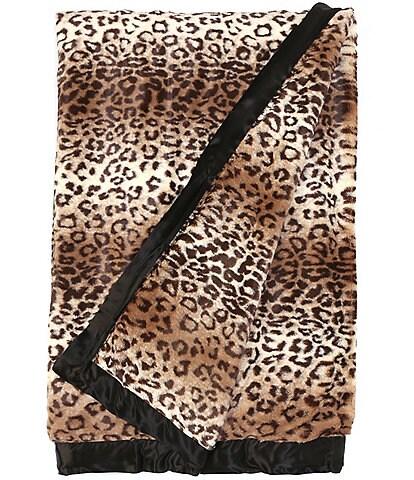 Little Giraffe The Giraffe at Home Collection Luxe™ Leopard Faux Fur XL Throw