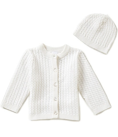 Little Me Baby 3-12 Months Huggable Cable-Knit Sweater and Hat Set