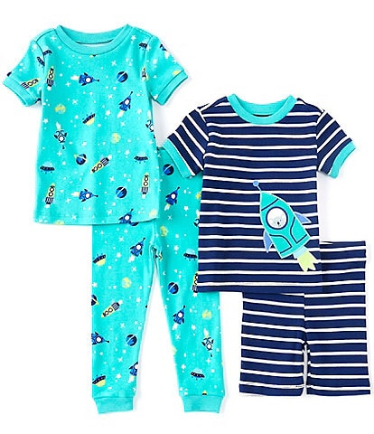 Little Me Baby Boys 12-24 Months Space Four-Piece Pajama Set